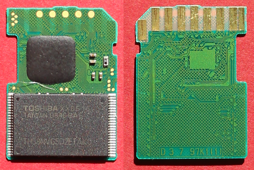 Inside an SD card